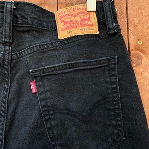 VINATGE!! Levi 514 black jeans
